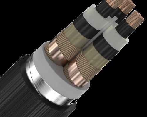 Трехжильные силовые кабели с изоляцией из сшитого полиэтилена на 10 кВ