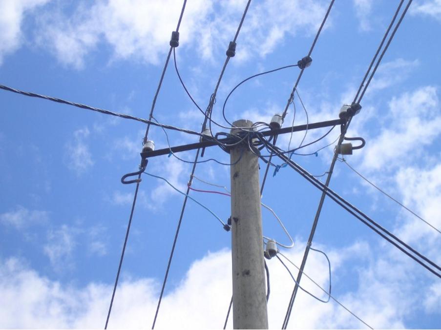 Провода АС без изоляции на опорах