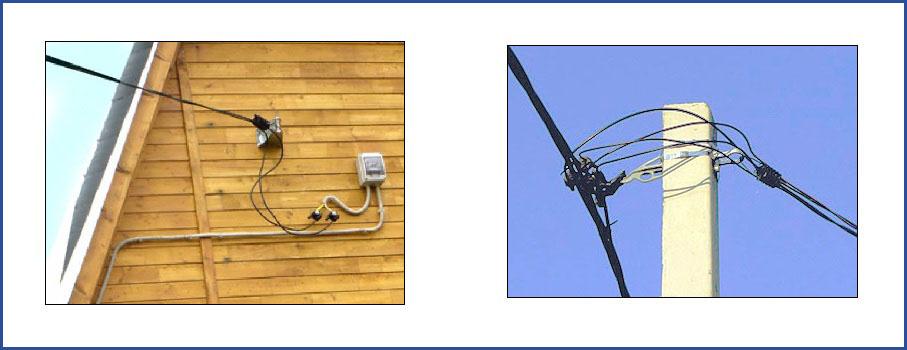 Подключение дома с использование провода СИП